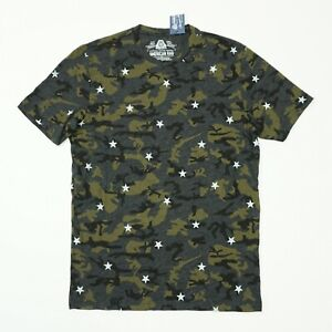 American-Rag-Mens-Tee-Camo-Star-Graphic-T-Shirt-Gray-Black-Green-Camo
