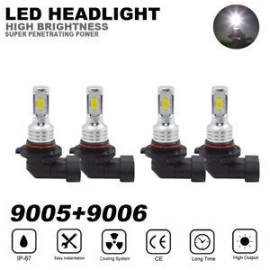 4x-9005-9006-LED-Combo-Headlight-Bulb-For-Silverado-1500-2500-HD-3500-03-06