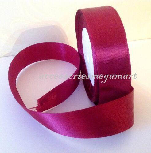 22m ruban de satin brillant 25mm 1 pouce de large couleurs variées pour fête de mariage gâteau