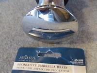 1 Pegasus Decorative Polished Chrome Trainer Drain