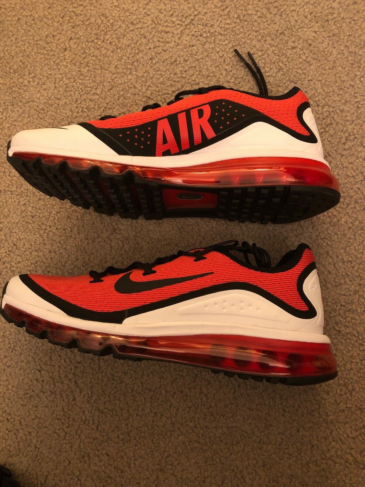 Nike Air Max More Habablack Red Black White AR1944 600  Men's Size 10.5