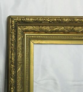 ANTIQUE-FITS-10-034-X-12-034-GOLD-GILT-DEEP-ORNATE-WOOD-VICTORIAN-ART-FRAME