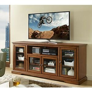 Walker Edison 70inch Highboy Style Wood TV Stand-Rustic Brown W70C32RB TV stand