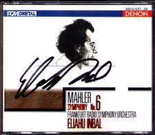 Eliahu INBAL Signiert MAHLER Symphony No.6 DENON JAPAN 2CD Audiophile Frankfurt