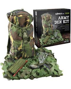 Kids Army Outdoor Adventure Kit - Jeu de rôle pour les enfants de l'enfance de camouflage 7426804111378