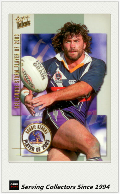 2004 Select NRL Authentic Club Player Of year Card CP4 Robbie Kearns (Storm)