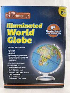 "8/"" Illuminated Built-in Modern LED Night World Globe Globo terraqueo Iluminado"