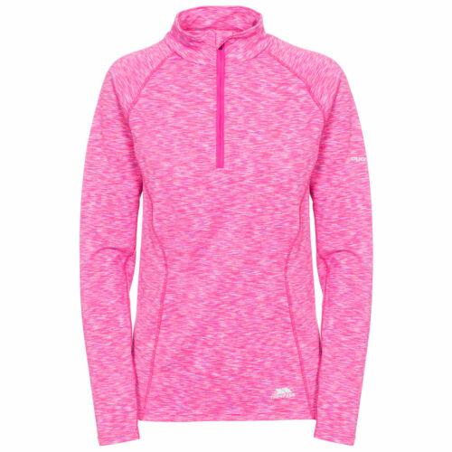 Trespass Olina Womens Long Sleeve Top Pink Jogging Reflective Hiking Jumper