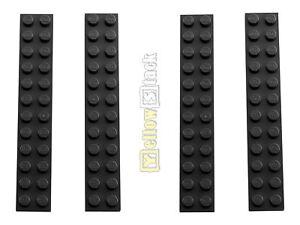 4x LEGO® 2445 2x12 Platte schwarz NEU