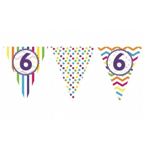 1C Happy 6th Birthday AGE 6 Party Balloons Banners Badges /& Decorations Helium