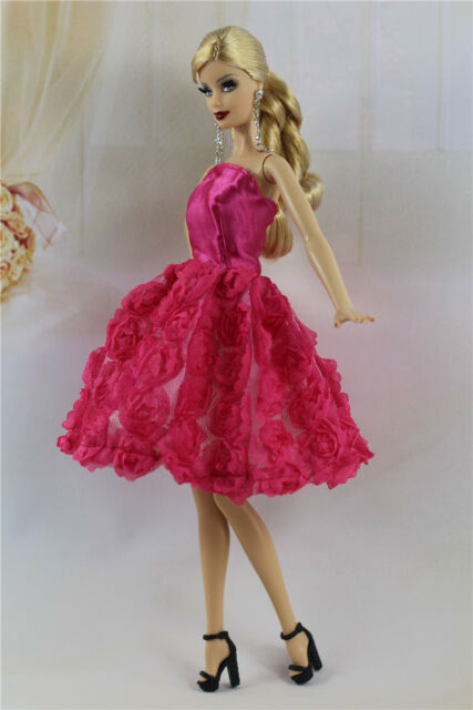 1e19cf41817 Lovely Fashion Clothes outfit flower Dress for Barbie Doll D01b for ...