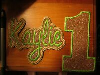 Iron On Embroidered Applique- Name And Birthday Number- Email Details