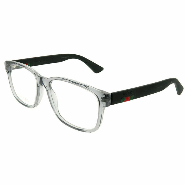 69c9aa4330a Gucci Urban GG 0011o Eyeglasses 007 Grey 100 Authentic for sale ...