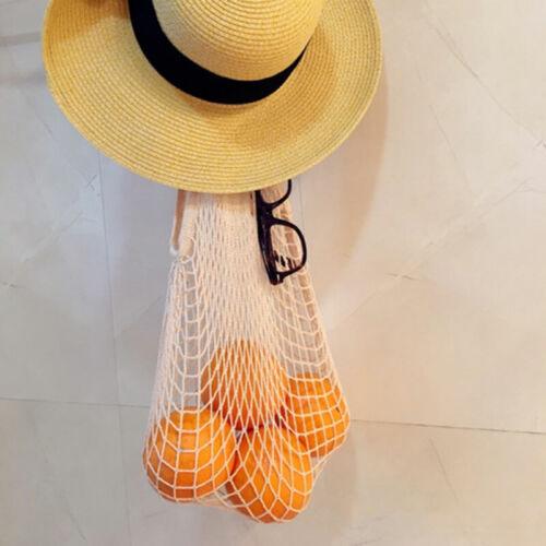Reusable Cotton Mesh String ECO Shopping Grocery Bag Fruit Storage Handbag Tote
