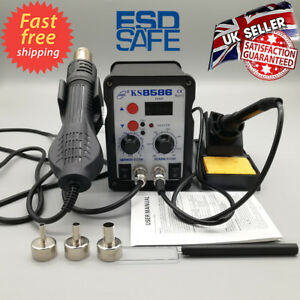 2in1-8586-Digital-Soldering-Iron-Station-Desoldering-Hot-Air-Gun-SMD-Rework-LED