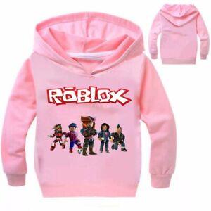 Boys Girls ROBLOX Kids Cartoon Casual Spring Fall Sweatshirts Hoodies Pullover