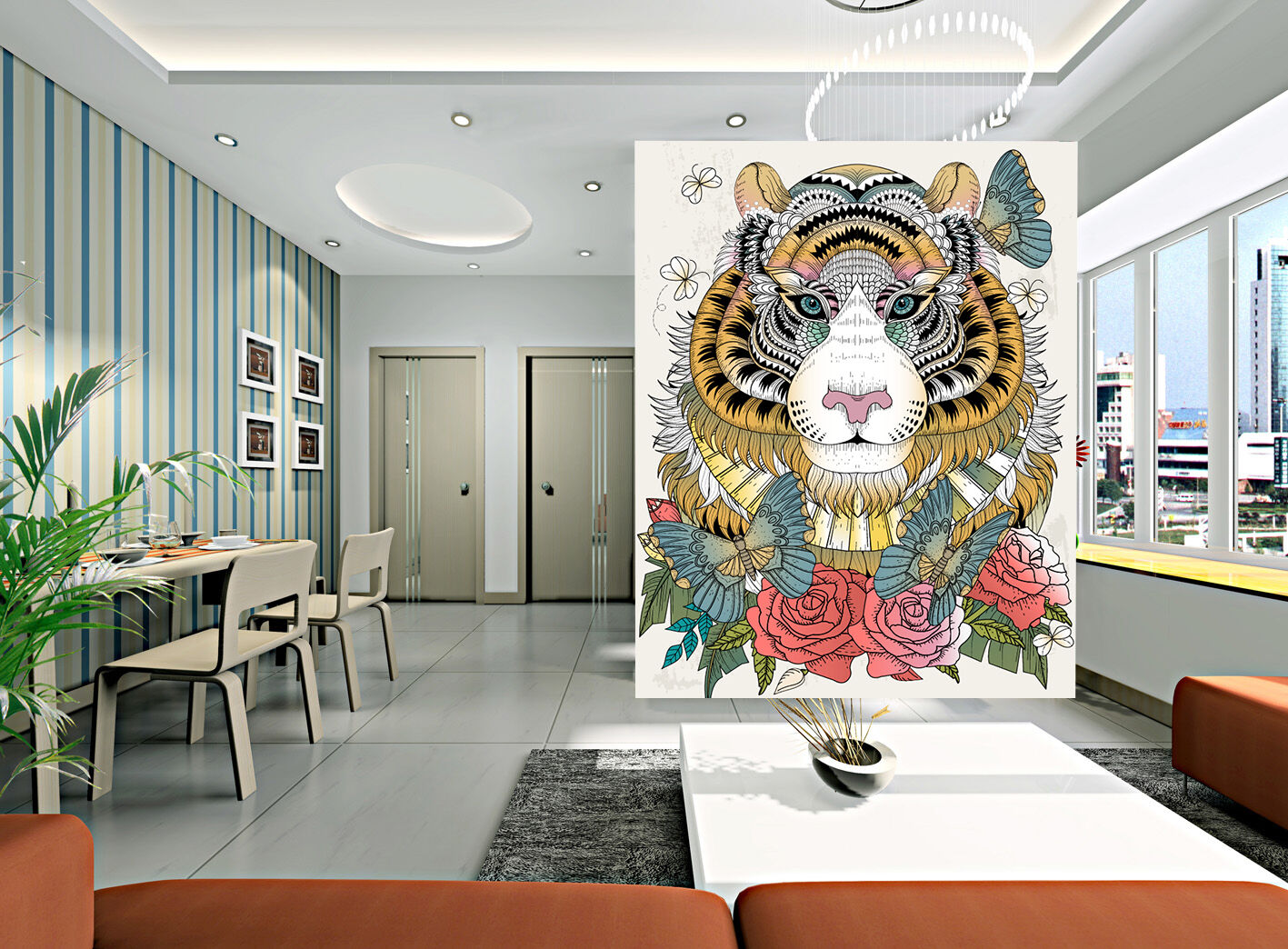 3D animal butterfly beautiful Wall Paper Print Decal Wall Deco Indoor wall Mural