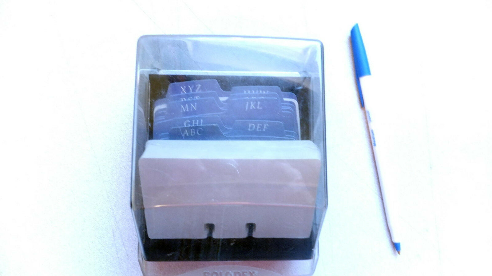Used Rolodex Petite S310C business Card File, 100 new cards ea 4x2 ...