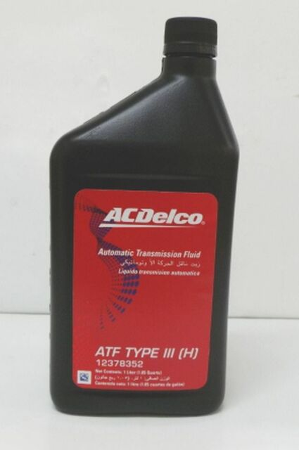 genuine holden acdelco auto trans fluid 1lt atf type iii. Black Bedroom Furniture Sets. Home Design Ideas