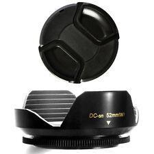 52mm Wide Lens Hood Petal Shape and Lens Cap for Pentax DA 18-55mm 1:3.5-5.6 AL