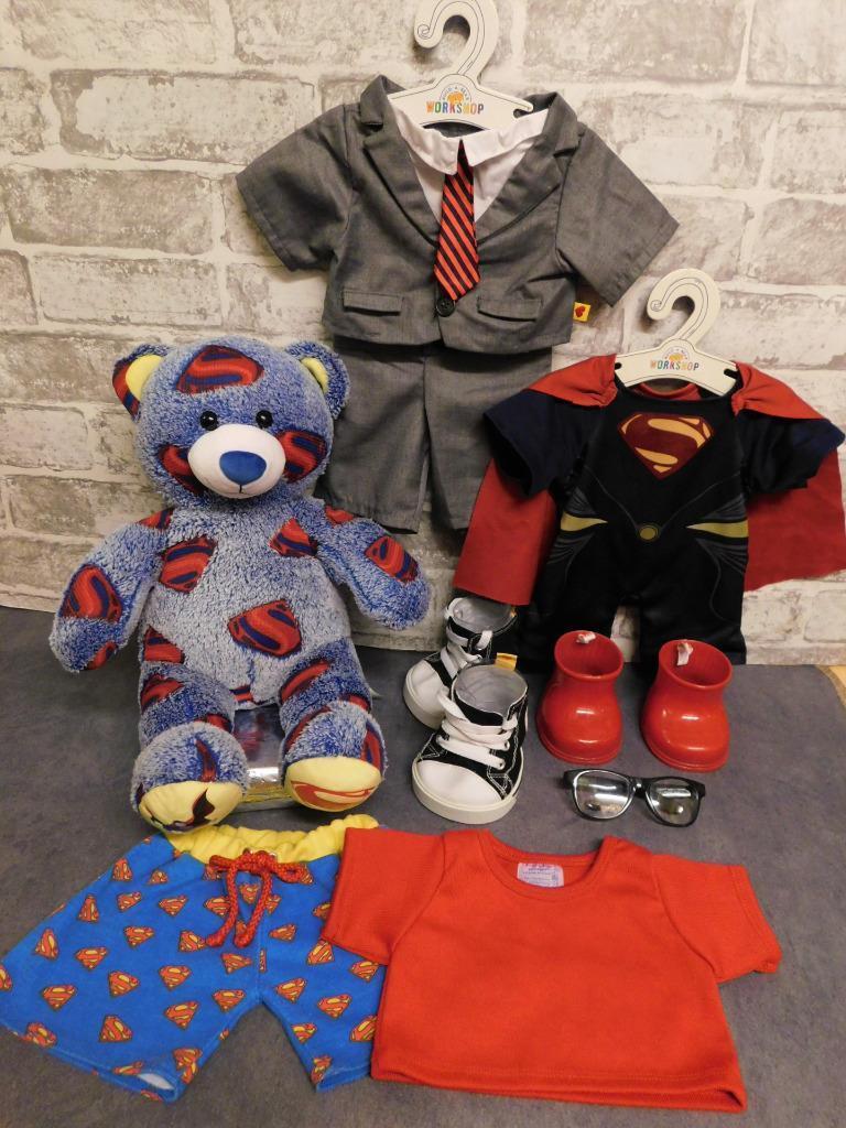 Build a Bear Supereroe Bundle-DC Superman + Smart vestiti/ABITO  Clark Kent