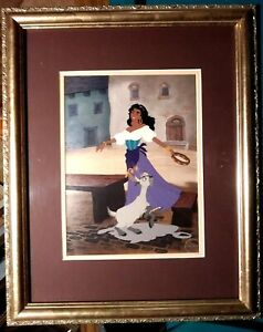 GYPSY COMPANIONS HUNCHBACK NOTRE DAME DISNEY LTD. ED. SERICEL NEW, CUSTOM FRAMED