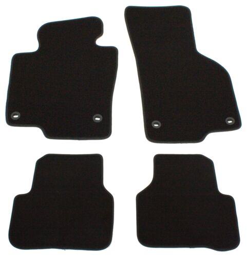 Fußmatten für VW Passat 3C B6 B7 Velours Premium Qualität Autoteppiche Schwarz