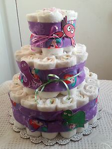 tier mermaid under the sea diaper cake baby shower centerpiece gift