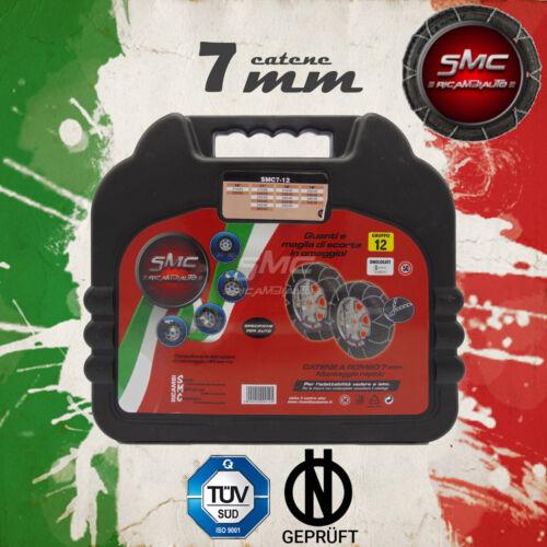 CATENE DA NEVE OMOLOGATE SMC 7mm PER PNEUMATICI 215//65 R 16 GRUPPO 120