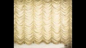 Tende In Tessuto Georgette : Tenda impero artigianale su misura tessuto georgette prezzo al mq ebay