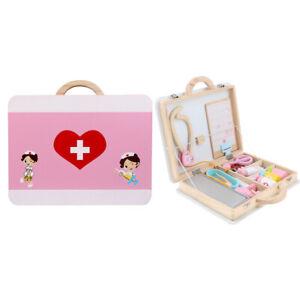 15Pcs деревянный медицинский ящик врач медсестра наборы ролевая набора дети игрушка