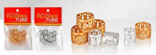 Details about  /Braiding Metal Cuffs Hair Decoration Filigree Tube