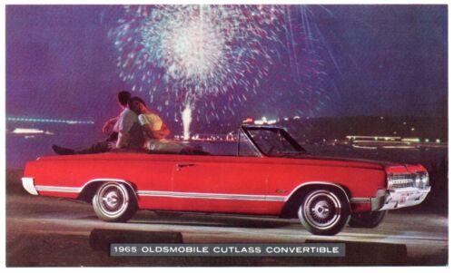 1965 Oldsmobile CUTLASS CONVERTIBLE Original Dealer Promo Postcard UNUSED Ex ^
