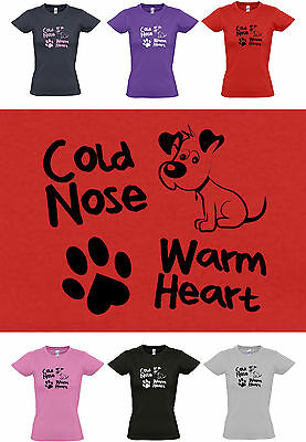 S to 2XL Puppy Paw Print COLD NOSE Dogs WARM HEART Cute Dog Lovers Hoody