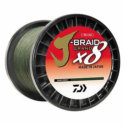 Daiwa J-Braid 8X 3000M Bulk Spool Dark Green JB8U8-3000DG