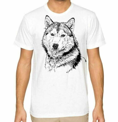 Husky Dog Lovers Mens Husky Owners Husband Gift Graphic T Shirt Tee