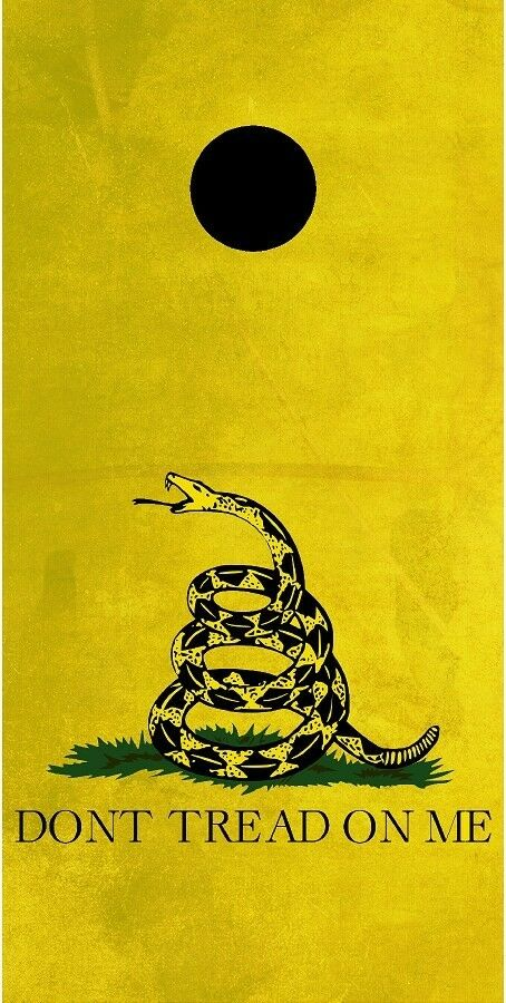 Gadsden Don't tread on me  rattlesnake Cornhole game decal wrap set  select from the newest brands like