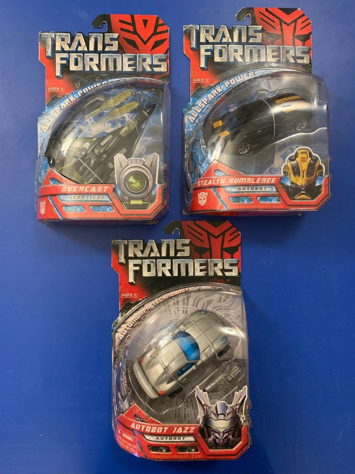 TRANSFORMERS ALLSPARK POWER STEALTH BUMBLEBEE OVERCAST AUTOAMORPH AUTOBOT JAZZ