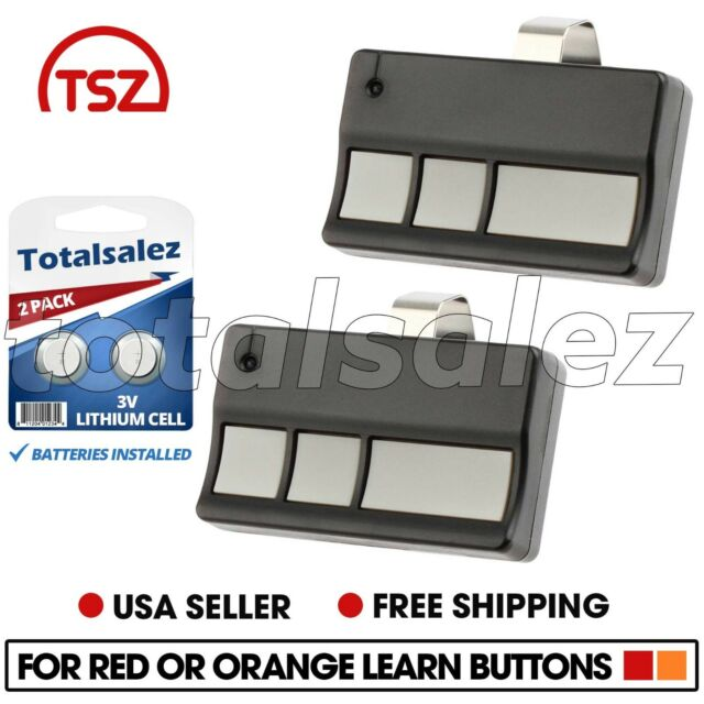 2 For 973LM Liftmaster SEARS Craftsman 3 Button Garage Remote 390mhz Keychain