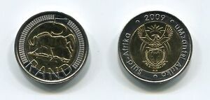 South-Africa-2009-Uncirculated-R5-Bi-metallic-Coin-SARB-Umzantsi-Afrika