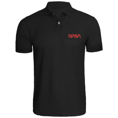 Mens NASA Logo Embroidered Polo Shirts Men Shirt