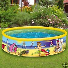 "Wehncke Fix Pool ""Beach Ghost"" 185x40cm Planschbecken Baden Kinderpool 12809"