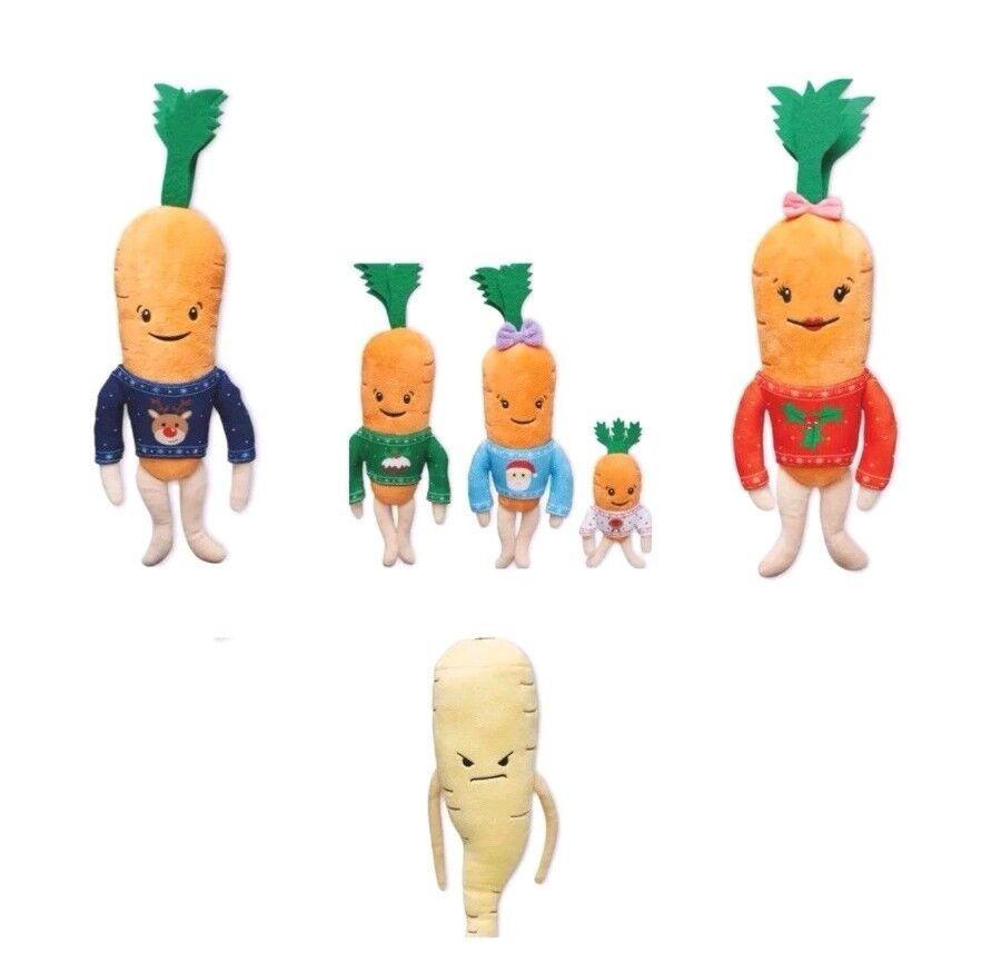 Aldi Carrot Family Kevin Katie Kids Chantenay Jasper Baby Pascal Toy Bundle New