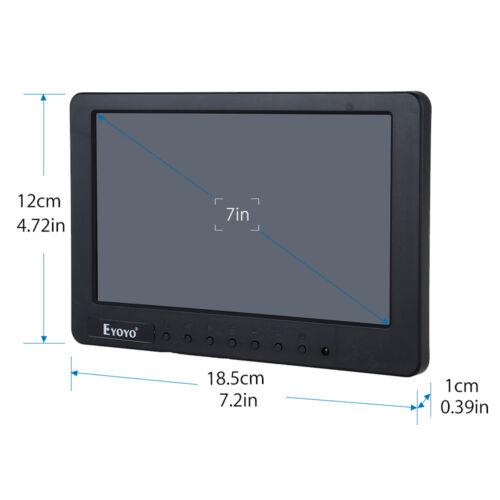 """7 /""""pantalla de TFT LCD AV CVBS BNC monitor de audio BNC AV para TV DVR coche"""