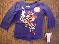 Sesame Street Halloween Toddler Girl Shirt Top New Elmo Abby 2T Glow in the Dark
