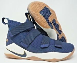 pretty nice 3eed8 b3aa0 Image is loading Nike-LeBron-Soldier-XI-Mens-Basketball-Shoes-Midnight-