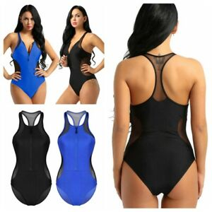 1049916d9d0f5 Image is loading Womens-One-Piece-Swimsuit-Mesh-Bikini-Bathing-Suit-
