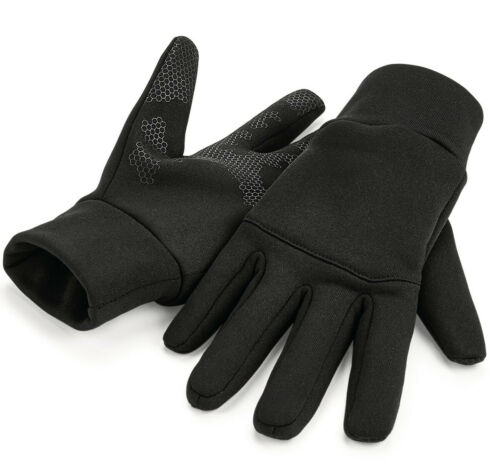 Beechfield Softshell Sports Tech Guanti Uomo Donna Leggero Quick Dry (B310)
