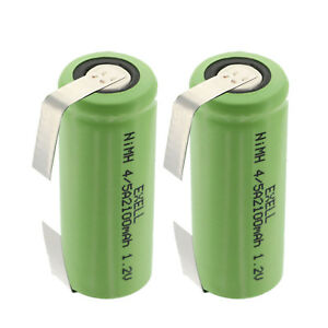 2x-1-2V-4-5A-Rechargeable-Batteries-w-Tabs-For-Solar-Lights-Remotes-Telecoms