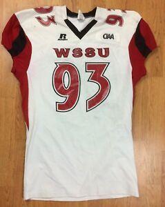 Winston-Salem State Rams Authentic Game Worn Football Jersey  93 XXL ... 1ee7ea409